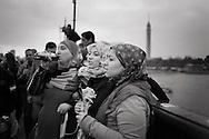 EGYPT, Cairo: Demonstration on Kasr el Nile bridge. ph. Christian Minelli.