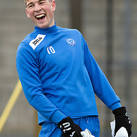 St Johnstone Training....14.03.14<br /> David Wotherspoon having a laugh in training this morning ahead of tomorrow's game against Ross County.<br /> Picture by Graeme Hart.<br /> Copyright Perthshire Picture Agency<br /> Tel: 01738 623350  Mobile: 07990 594431