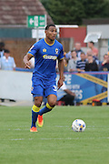 AFC Wimbledon defender Darius Charles (32) in action during the EFL Sky Bet League 1 match between AFC Wimbledon and Shrewsbury Town at the Cherry Red Records Stadium, Kingston, England on 24 September 2016. Photo by Stuart Butcher.