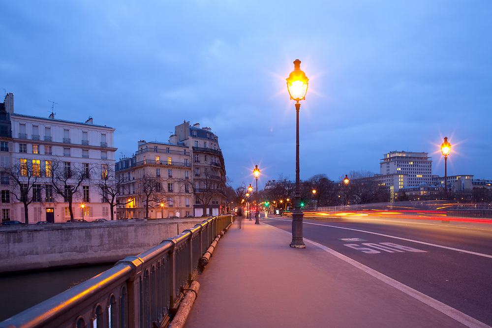 Pont de Sully bridge over Seine River, Ile Saint Louis, Paris, France