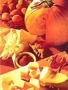 Alaska. Pumpkin chunks being prepared for pie.