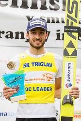 Winner Killian Peier from Switzerland during flower ceremony after Ski Jumping Continental Cup Kranj 2018, on July 8, 2018 in Kranj, Slovenia. Photo by Urban Urbanc / Sportida