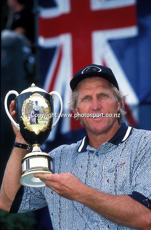 Golf, Greg Norman International Tournament 1998, Sydney, Australia.<br />Greg Norman (Australia) winner.<br />Please credit: Sport. The Library/ Photosport