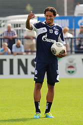 17.07.2013, Trainingsgelaende, Veltins Arena, GER, 1. FBL, FC Schalke 04 Training, im Bild Jermaine Jones ( Schalke 04/ Portrait ) mit Spass beim Training. // during a Training Session of German Bundesliga Club Fc Schalke 04 at the Training Ground, Veltins Arena, Germany on 2013/07/17. EXPA Pictures © 2013, PhotoCredit: EXPA/ Eibner/ Thomas Thienel<br /> <br /> ***** ATTENTION - OUT OF GER *****