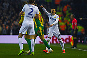 Pablo Hernandez of Leeds United (19) shouts instructions during the EFL Sky Bet Championship match between Leeds United and West Bromwich Albion at Elland Road, Leeds, England on 1 March 2019.