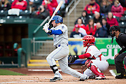 Kyle Parker #11 of the Tulsa Drillers follows through his swing during a game against the Springfield Cardinals at Hammons Field on May 4, 2013 in Springfield, Missouri. (David Welker/Four Seam Images)
