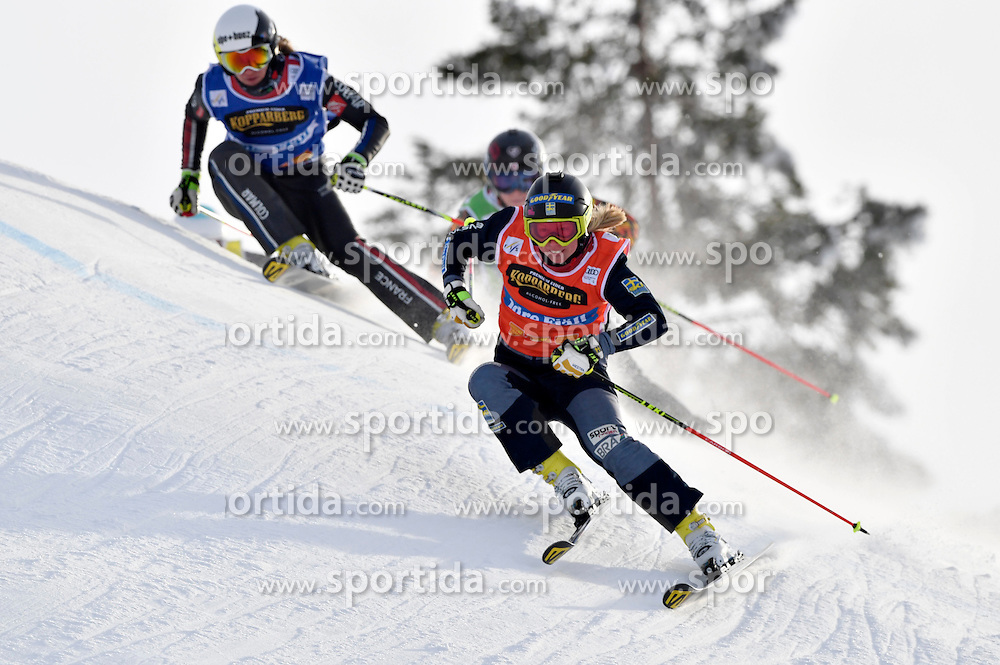 12.02.2017, Idre Fj&auml;ll, SWE, FIS Weltcup Ski Cross, Idre Fj&auml;ll, im Bild Sandra N&auml;slund // during the FIS Ski Cross World Cup in Idre Fj&auml;ll, Sweden on 2017/02/12. EXPA Pictures &copy; 2017, PhotoCredit: EXPA/ Nisse Schmidt<br /> <br /> *****ATTENTION - OUT of SWE*****
