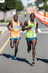 Boston Athletic Association 10K road race: Stephen Sambu and Daniel Salel