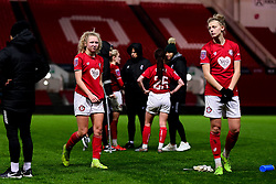 Katie Robinson of Bristol City and Yana Daniels of Bristol City - Mandatory by-line: Ryan Hiscott/JMP - 17/02/2020 - FOOTBALL - Ashton Gate Stadium - Bristol, England - Bristol City Women v Everton Women - Women's FA Cup fifth round