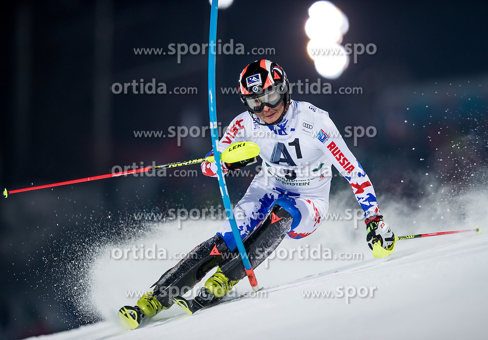 24.01.2017, Planai, Schladming, AUT, FIS Weltcup Ski Alpin, Schladming, Slalom, Herren, 1. Lauf, im Bild Alexander Khoroshilov (RUS) // Alexander Khoroshilov of Russian Federation in action during his 1st run of men's Slalom of FIS ski alpine world cup at the Planai in Schladming, Austria on 2017/01/24. EXPA Pictures © 2017, PhotoCredit: EXPA/ Johann Groder