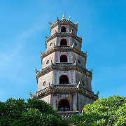 Thien Mu Pagoda in Hue from below