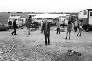 Man in front of bus, The Mother Festival, Somerset, 1995
