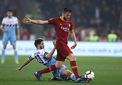 March 2, 2019 - Rome, Lazio, Italy - SS Lazio v As Roma : Serie A.Luis Alberto of Lazio and Bryan Cristante of Roma at Olimpico Stadium in Rome, Italy on March 2, 2019. (Credit Image: © Matteo Ciambelli/NurPhoto via ZUMA Press)