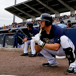Mar 2, 2013; Port Charlotte, FL, USA; Tampa Bay Rays third baseman Evan Longoria (3) waits to bat against the Baltimore Orioles during the bottom of the fourth inning of a spring training game at Charlotte Sports Park. Mandatory Credit: Derick E. Hingle-USA TODAY Sports