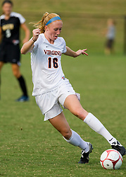 Virginia Cavaliers forward Maggie Kistner (16) in action against VCU.  The Virginia Cavaliers defeated the VCU Rams 5-0 in women's soccer at Klockner Stadium on the Grounds of the University of Virginia in Charlottesville, VA on August 31, 2008.
