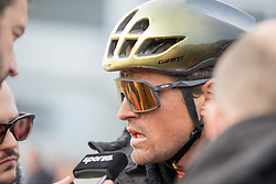 Greg van Avermaet (BEL) of CCC Team (POL,WT,Giant) during the 2019 Paris-Roubaix (1.UWT) with 257 km racing from Compiègne to Roubaix, France. 14th April 2019. Picture: Thomas van Bracht | Peloton Photos<br /> <br /> All photos usage must carry mandatory copyright credit (Peloton Photos | Thomas van Bracht)
