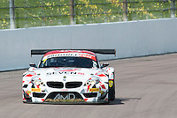 Lee Mowle (GBR) / Joe Osborne (GBR)  #7 AmDTuning.com  BMW Z4 GT3  BMW 4.4L V8 British GT Championship at Rockingham, Corby, Northamptonshire, United Kingdom. May 01 2016. World Copyright Peter Taylor/PSP.