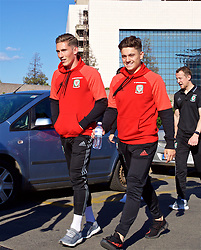 BELGRADE, SERBIA - Sunday, June 11, 2017: Wales' Harry Wilson and Daniel James during a team walk around the Hyatt Regency Hotel before the 2018 FIFA World Cup Qualifying Group D match between Wales and Serbia. (Pic by David Rawcliffe/Propaganda)