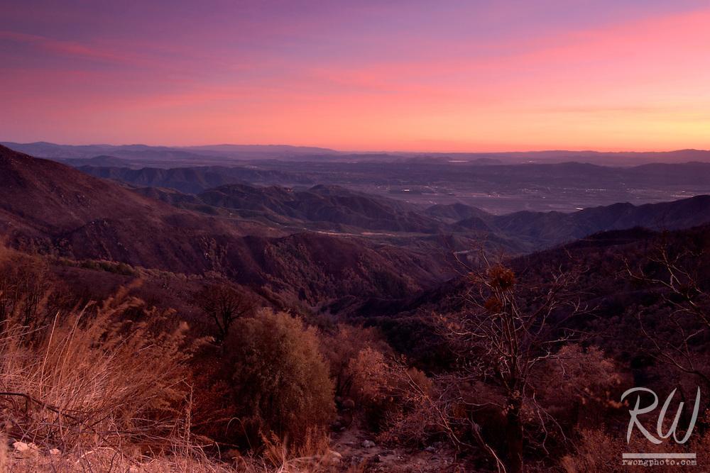 San Bernardino Mountains Sunset, California