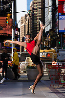 Times Square New York City Dance As Art Photography Project with dancer Kevin Mimms.