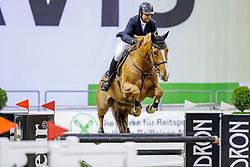 EL ZOGHBY Karim (EGY), Feeling Lucky<br /> Oldenburg - AGRAVIS Cup 2019<br /> Finale der Mittleren Tour<br /> CSI3* - Int. Springprüfung - 1.45 m<br /> 02. November 2019<br /> © www.sportfotos-lafrentz.de/Stefan Lafrentz