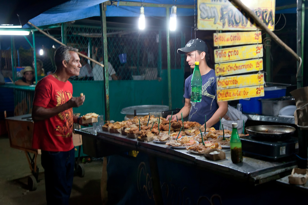 Carnival food in Rafael Freyre, Holguin Province, Cuba.