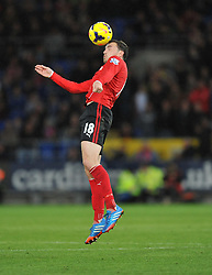 Cardiff City's Jordon Mutch - Photo mandatory by-line: Alex James/JMP - Tel: Mobile: 07966 386802 03/11/2013 - SPORT - FOOTBALL - The Cardiff City Stadium - Cardiff - Cardiff City v Swansea City - Barclays Premier League