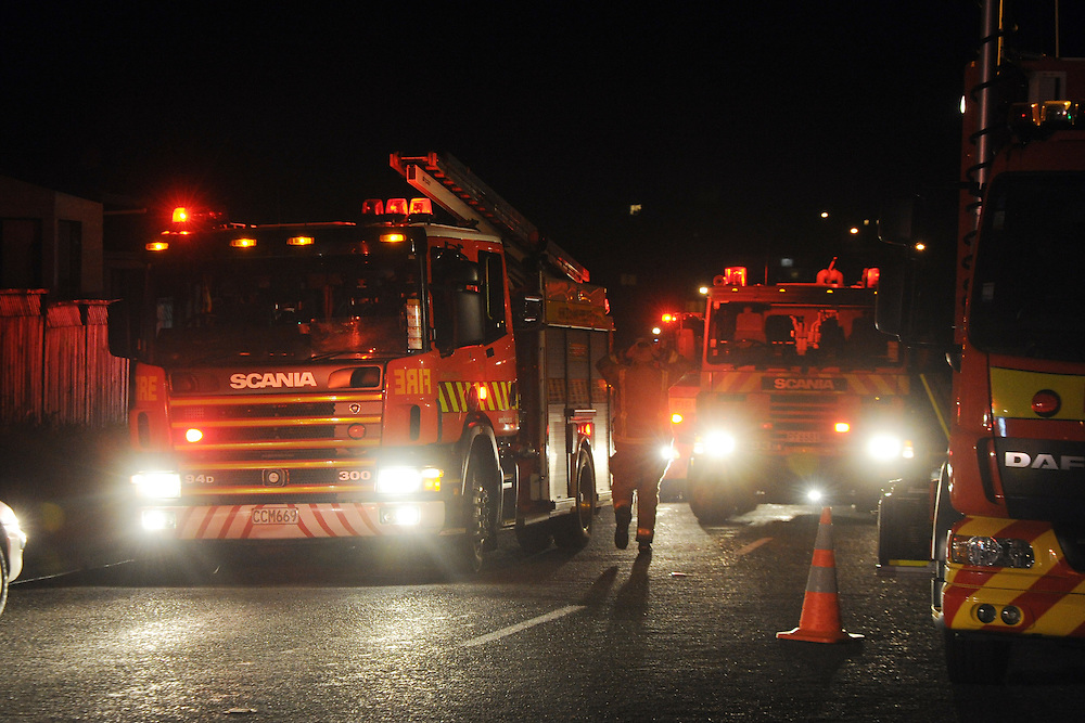 Fire, Police and Ambulance were called out to a serious two storey house fire in Newlands, Wellington, New Zealand, Friday, November 22, 2013. Credit:SNPA / Ross Setford
