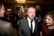 ELLE MACPHERSON; SIMON PEGG,  Esquire Man at the Top Awards 2008. Haymarket Hotel. London. 3 November 2008 *** Local Caption *** -DO NOT ARCHIVE -Copyright Photograph by Dafydd Jones. 248 Clapham Rd. London SW9 0PZ. Tel 0207 820 0771. www.dafjones.com