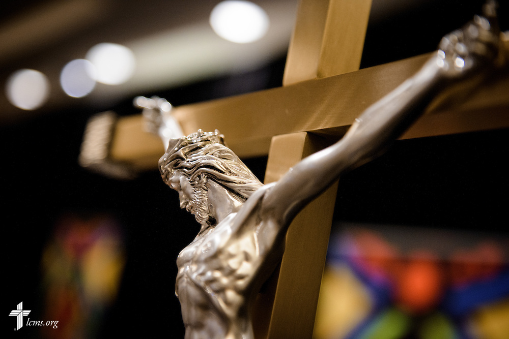 A crucifix before worship and the March for Life 2017 on Friday, Jan. 27, 2017, in Arlington, Va.  LCMS Communications/Erik M. Lunsford