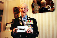 Albert Rogers in his London flat, British D-Day veteran