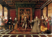 De Here, The Family of Henry VIII, An Allegory of Tudor Succession c1572