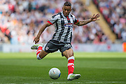 Grimsby Town's Nathan Arnold during the Conference Premier Final match between Forest Green Rovers and Grimsby Town FC at Wembley Stadium, London, England on 15 May 2016. Photo by Shane Healey.