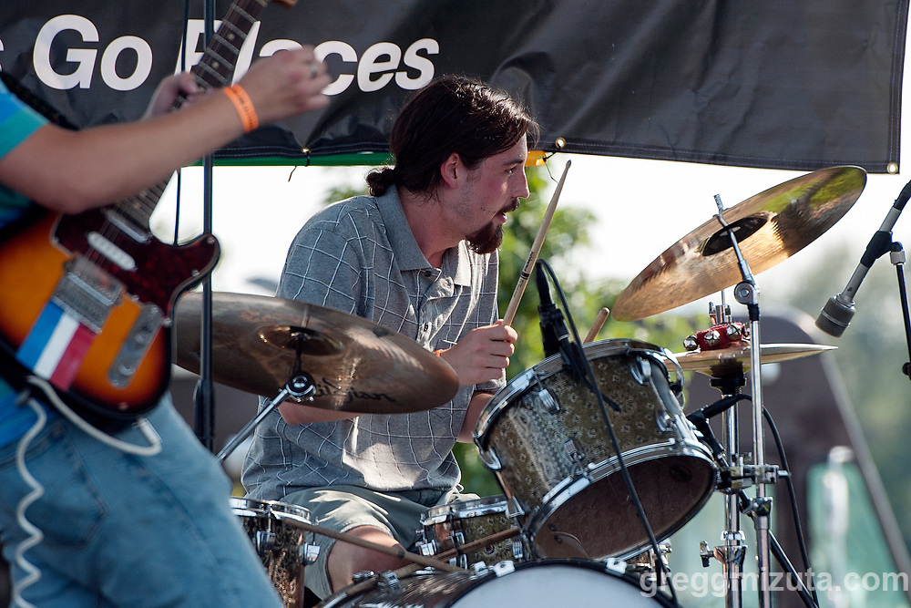 Marshall Poole's Michael Hoobery performs at Music on the Water at Esther Simplot Park in Boise, Idaho on August 19, 2017.<br /> <br /> Marshall Poole members:  Melanie Radford (vox, bass), Rider Soran (vox, lead guitar), Michael Hoobery (percussion), and Seth Graham (keyboards, rhythm guitar).<br /> <br /> Current location: Boise, Idaho
