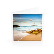 Photo Art Greeting Card | South West Rocks Collection | Late Afternoon, Main Beach | Printed on lightly textured matte art paper stock, blank inside. White envelope included, packaged in sealed poly bag. Dimensions: Card 123 x 123mm. Envelope 130 x 130mm.<br />