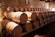 FRANCE, Saint Emilion<br /> The barrique cellar at Chateau de Ferrand (Grand Cru Classé)