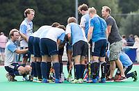 ROTTERDAM -HOCKEY - ABN AMRO CUP , als voorbereiding op de competitie.  Hurley, met rechts coach Simon Organ. COPYRIGHT KOEN SUYK