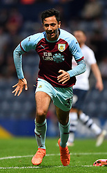 Burnley's Dwight McNeil celebrates scoring his side's third goal of the game during a pre season friendly match at Deepdale, Preston.