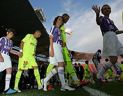 Karim Benzema comes out onto the pitch before the match between Toulouse and Lyon, 38eme Journee, France Ligue 1, Toulouse, France, 29th May 2009.