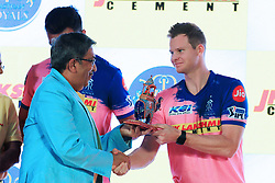 March 22, 2019 - Jaipur, Rajasthan, India - Rajasthan Royals player Steve Smith  during the team jersey unveiled ceremony ahead the IPL 2019 matches  in Jaipur, Rajasthan, India  on March 22,2019. (Credit Image: © Vishal Bhatnagar/NurPhoto via ZUMA Press)