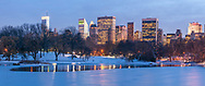 The Lake Frozen in Winter, Central Park, Manhattan, New York City, New York, USA