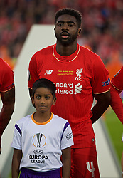 BASEL, SWITZERLAND - Wednesday, May 18, 2016: Liverpool's Kolo Toure lines-up before the UEFA Europa League Final against Sevilla at St. Jakob-Park. (Pic by David Rawcliffe/Propaganda)