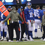 New York Giants quarterback Eli Manning during his sides loss during the New York Giants V San Francisco 49ers, NFL American Football match at MetLife Stadium, East Rutherford, NJ, USA. 16th November 2014. Photo Tim Clayton