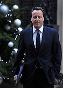 © Licensed to London News Pictures. 07/12/2011, London, UK. British Prime Minister DAVID CAMERON leaves Ten Downing Street today 7th December 2011.  Photo credit : Stephen Simpson/LNP