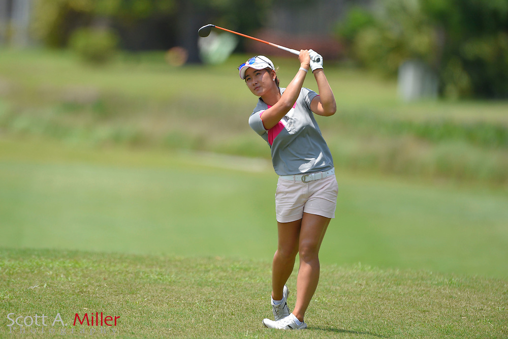 Su Oh during the final round of the Chico's Patty Berg Memorial on April 19, 2015 in Fort Myers, Florida. The tournament feature golfers from both the Symetra and Legends Tours.<br /> <br /> &copy;2015 Scott A. Miller
