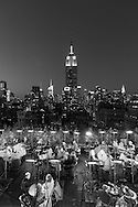 United states ,New York -  Bar restaurant - 230 fith on a rooftop building elevated  view on Manhattan and the empire state building