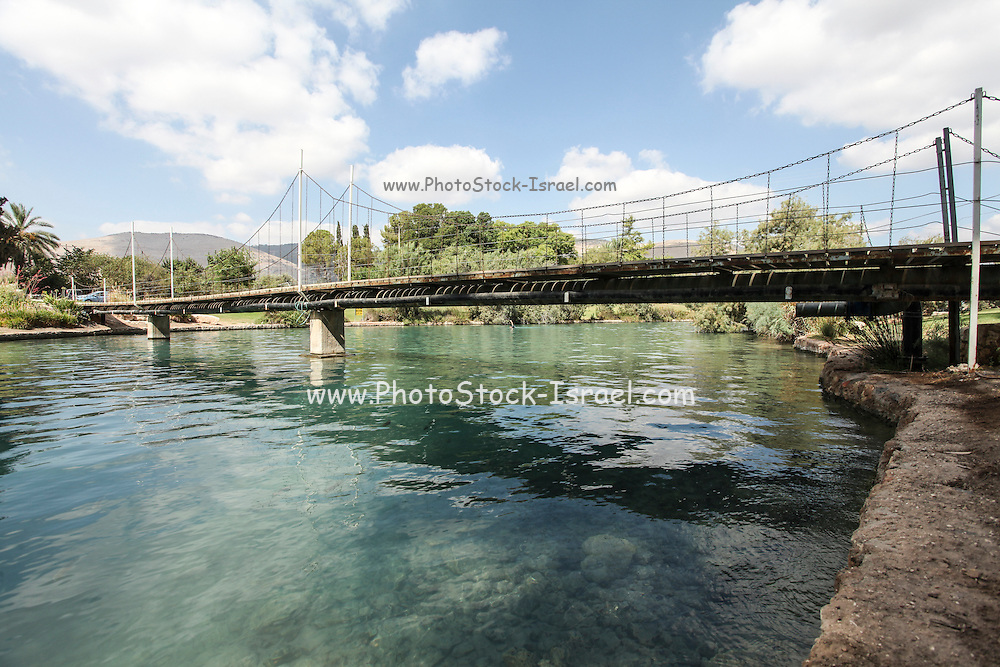 Ha'Amal Stream AKA Hasi River Flows through Kibbutz Nir David in Northern Israel