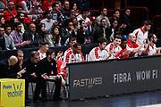 Panchina Armani Milano, EA7 EMPORIO ARMANI OLIMPIA MILANO vs RED OCTOBER CANTU', gara 2 Quarti di Finale Play off Lega Basket Serie A 2017/2018, Mediolanum Forum Assago (MI) 14 maggio 2018 - FOTO: Bertani/Ciamillo
