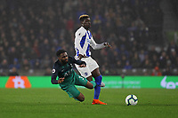 Football - 2018 / 2019 Premier League - Brighton and Hove Albion vs. Tottenham Hotspur<br /> <br /> Danny Rose of Tottenham is fouled by Yves Bissouma of Brighton at The Amex Stadium Brighton <br /> <br /> COLORSPORT/SHAUN BOGGUST