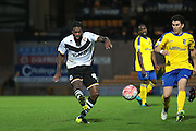 Port Vale midfielder Anthony Grant and Maidenhead United midfielder Dave Tarpey during the The FA Cup match between Port Vale and Maidenhead United at Vale Park, Burslem, England on 8 November 2015. Photo by Jemma Phillips.